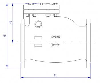 pn16 swing check valves dn80-900